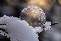Moodboard: Gefrorene Seifenblasen / Bilder von gefroren Seifenblasen als Wegweiser zu eigenen Bildern