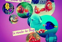 LE MONDE DE NEMO/LE MONDE DE DORY. (my collect') / ©LauryRow. / https://www.facebook.com/pg/Disneycollecbell%20/photos/?tab=album&album_id=604765126271848