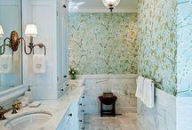 Обои в ванной / Декор ванной настолько же важен, как и декор гостиной или любой другой комнаты в доме