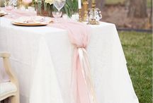 Wedding table runners / Tulle, Ribbons, Flowers, Sweetheart tables