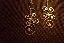 Bijoux in Metallo / Gioielli artigianali reallizzati con filo di Alpaca e Pietre Preziose