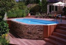 Landscape {pool ideas} / Collection of pool ideas / landscape  / by Bren