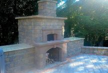 Long Island Outdoor Fireplaces & Firepits / Outdoor Fireplaces and Firepits are the perfect way to create a year round outdoor living space. Have Stone Creations of Long Island Pavers & Masonry bring your vision to life www.stonecreationsoflongisland.net / by Stone Creations of Long Island