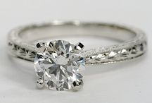 Solitaire  rings / Engagement rings with a single stone