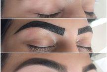 Eye brow tinting