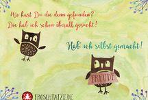 Postcards | Postkarten / http://www.froschtatze.de/postkarten/