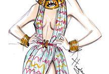Mood board / fashion sketch