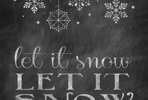 chalkbord winter