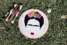 Frida cross stitch