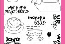 Latte Love / Clear stamp from pinkandmain.com