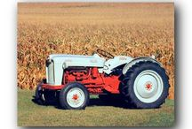 Vintage Tractor Wall Decor Art Print Posters