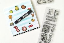 Sweet Treats: Crafts and Cards / Sweet projects, both cards and crafts, featuring our adorable food related stamps.