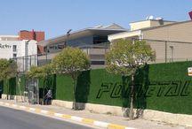 çim çit / pometal dekoraçim çit montaj resimleri