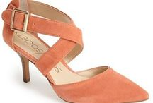 Coral Shoes for Shoeaholics / Color me coral! Coral sandals, coral flats, coral boots and coral shoes are trendy and beautiful.