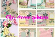 Baby girl dress chipboard albums / Sa Crafters baby girl dress chipboard album products