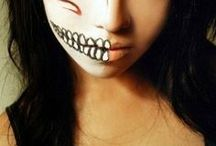 halloween costume moodboard / images on makeup, hair and costume ideas for halloween