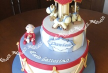 Baptism Cake for baby supporter of Roma football club