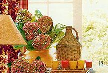French Country Colorful Kitchen & TV Area / After way too many years of hit or miss decorating, I have finally identified my style: FRENCH COUNTRY. Specifically FARMHOUSE FRENCH COUNTRY. Eager to collect ideas for my home and garden.