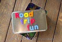 Jouer en voyage / Jeux pour les trajets avec les enfants. Road trip games for the kids.