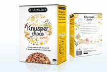 Knusper Muesli :: Packaging / In the sea of loud colors, bold brand typography, mascots swinging wildly on the box, this design come as fresh air. It maintains the clean white as the dominant color. This brand is marketed as organic breakfast muesli for adult. The brand typography is sweet and modern without additional filters and shadows. This combination ironically make the product pop on the shelf and have a high visibility and the quality organic product will ensure customer loyalties.