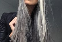 Hairstyle inspiration / Hairstyle ideas for ginger going grey