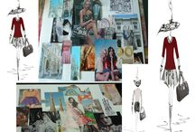 FashionDolls moodboards / Fashion cities styling Barcelona, Milano, New-York