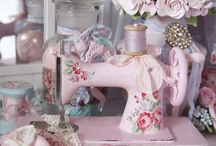 Sewing room / Sewing items go into home decor products ect