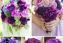 She Said Yes Purple / wedding flowers