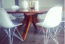 Custom Modern Furniture / Can't find that inspirational piece - we do custom work! Contact us and let our design team create a one of a kind reclaimed Teak piece we will handcraft made to last for generations.   Check out this amazing custom modern round dining table!