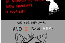 Five Nights At Freedy's / Old and it has a cringe fandom but i like the fanarts that the fans maked.....