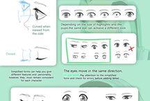 Olhos / como desenhar olhos
