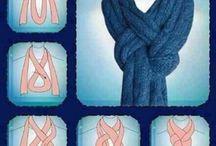 Šala, šátek - vázání