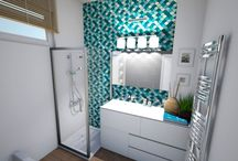 Variációk egy fürdőszobára / Fürdő felújítás előtti látványtervek. A család valami frissre, letisztultra és modernebbre vágyott. (Heves megye)