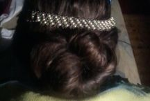 Braided hairstyles / I make hairstyles on my sister's hair. :)