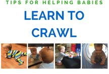 Learning To Crawl and Walk / How exciting and yet sad when your baby is learning to crawl :) They are growing up! My little 10-month-old just began to crawl, well sort of like a crab... but she did it!