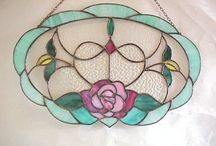 stained glass and mosaic ideas for mirrors and boxes