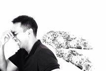 Selfie On Black and White / Me MySelf and I