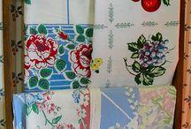 Vintage Linens / Beautiful. Colourful. Vintage linens.