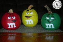 m&m pumpkin painting