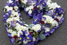 Funeral Hearts / Heart tributes by Jo Beth floral design