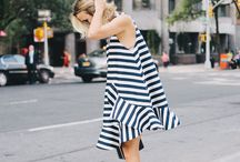 Printed & Stripped Dress