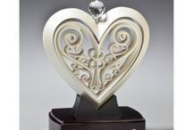 Unity Hearts / The Unity Heart is a 3-piece sculpture that is assembled by the bride and groom during the wedding ceremony to represent two hearts becoming one.