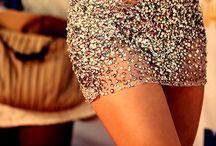 Dresses in glitter