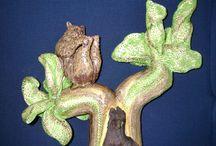 Berenboom / Keramiek met zwerfhout