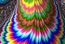 Crazy cool colors and Fractal Art / by Judy Burgess Krings