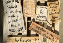 The Vintage Pallet / Handmade painted pallet signs with inspirational quotes to brighten your day thevintagepallet@mail.com custom orders