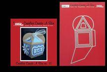 Crealies Create A Box no. 10 Fantasy Box -Cupcake box / Crealies Create A Box stans no. 10 Cupcakebox 9 x 8,5 cm