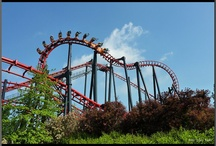 Walibi Belgium / Theme Park in Belgium near Brussels with wild rides and musical band characters