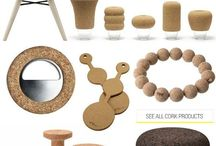 Cork / A collection of inspiration images featuring cork interiors and furnishings.