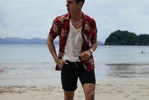 Mens Fashion Beach